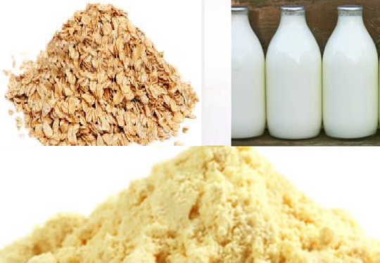 besan oats and milk facepack