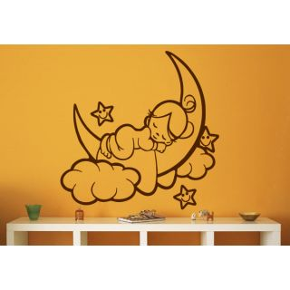 Decor Kafe Sleeping Baby Wall Decal