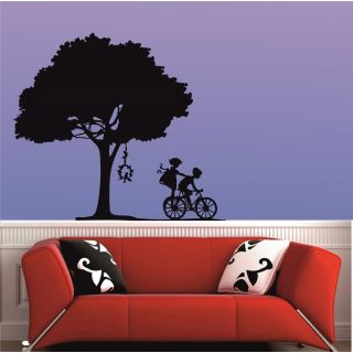 Mesleep Playing Kids Design Black Wall Sticker
