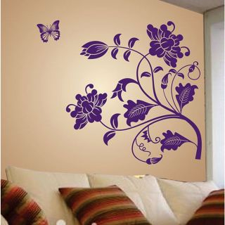 Wall Stickers Wall Decals Purple Vine Flower