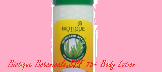 Biotique Botanicals SPF 75+ Body Lotion