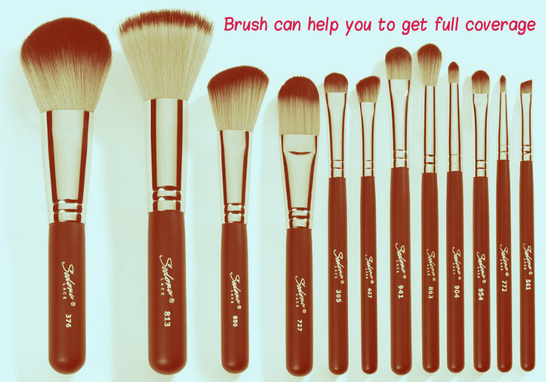 Brush can help you to get full coverage