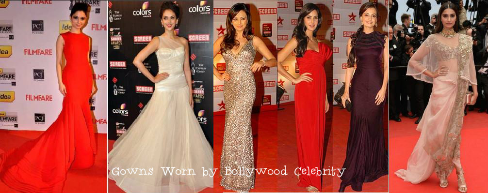 Gowns Worn by Bollywood Celebrity