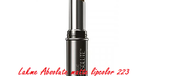 Lakme Absolute matte lipcolor 223