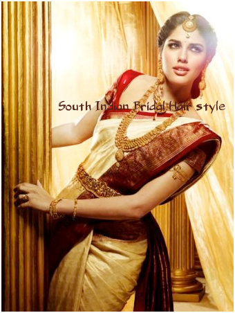 South Indian Bridal Hair style