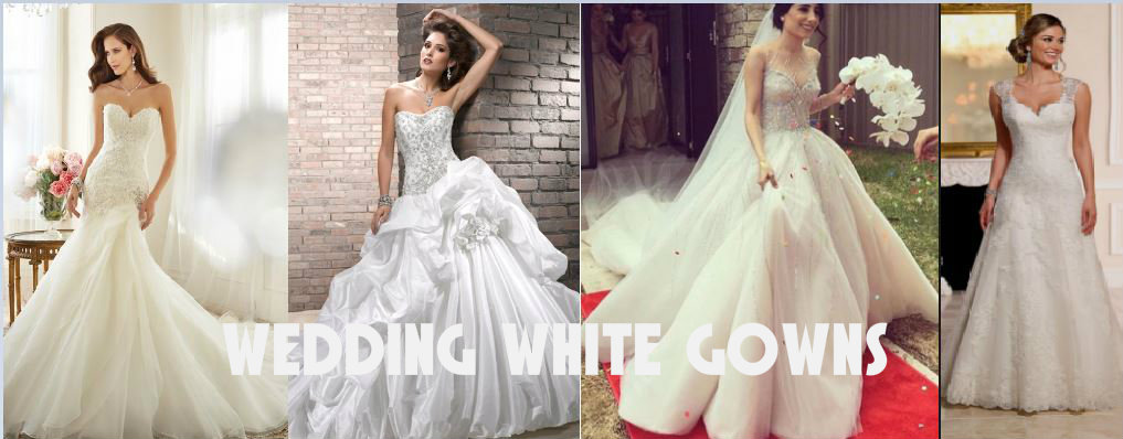 Wedding white Gowns